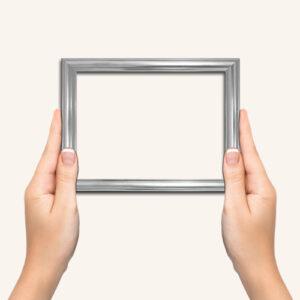 Silver-photo-frame